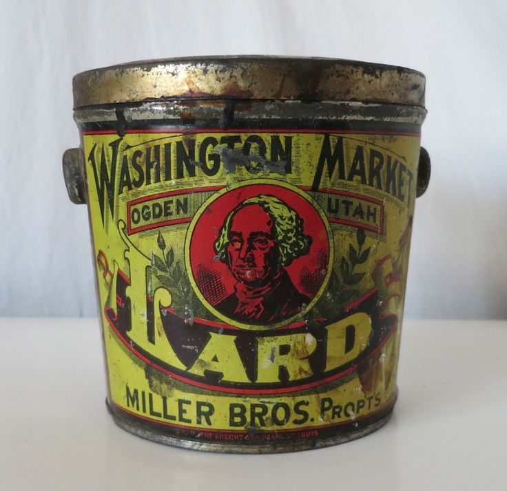 166 Best Lard Buckets Images On Pinterest Vintage Tins