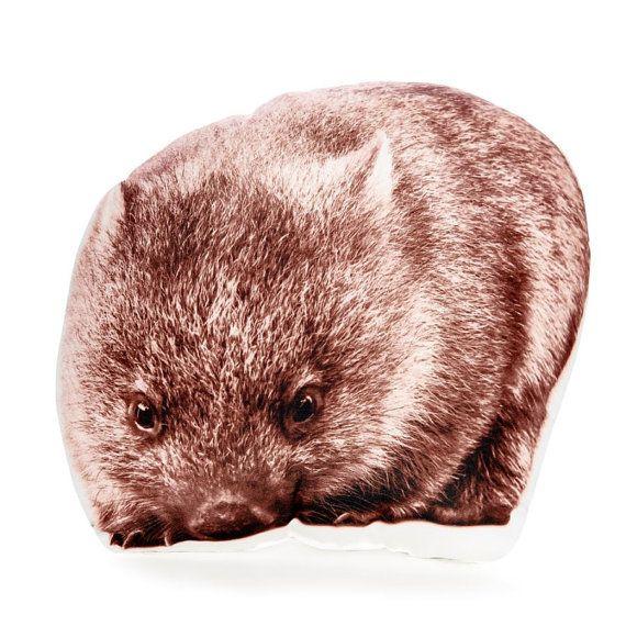 Wombat Pillow wombat Cushion Brown Pillow Decor Australian