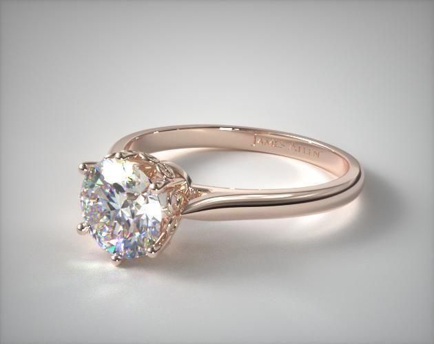 diamond and rose gold engagement ring james allen - Wedding Rings Gold