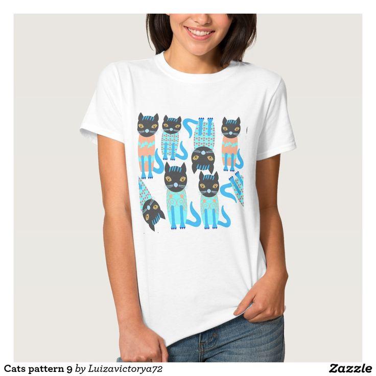 Cats pattern 9 t shirt