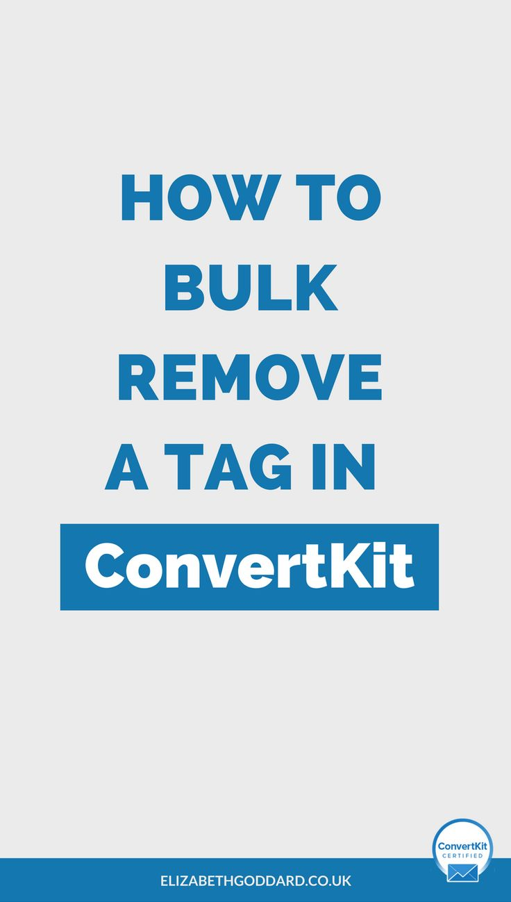 Want to learn how to use ConvertKit? Read my ConvertKit Tutorial on how to bulk remove a tag in ConvertKit. email automation | blogger tips | entrepreneur tips | email subscribers | newsletter tips