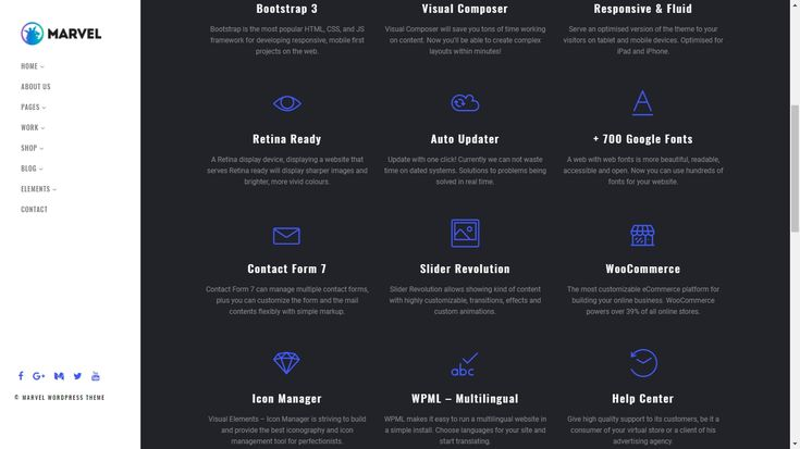 Marvel Vertical Menu WordPress Theme - Premium site builder tool with stacks of layout designs, user-friendly Theme options and rich drag & drop content builder to help create your perfect vertical menu site in minutes https://visualmodo.com/theme/marvel-vertical-menu-wordpress-theme/  #webdesign #HTML5 #CSS3 #template #plugins #themes #WordPress #ecommerce #responsive #retina #bootstrap #slider #SiteBuilder #creative #Vertical #Navigation #Menu  Take your website to the next level!