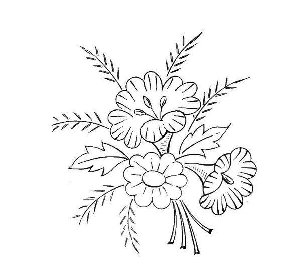 Resultado de imagen para flores bordados rayas bordes