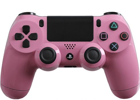 Glossy Pink Modded PS4 Controller