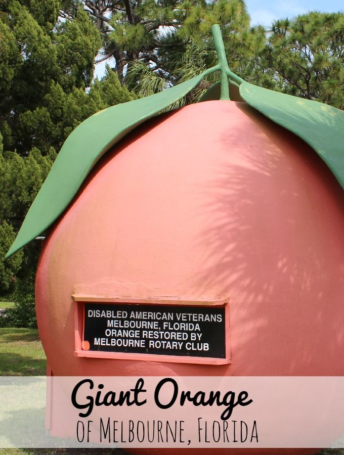 Roadside Attraction the Giant Orange of Melbourne Florida.