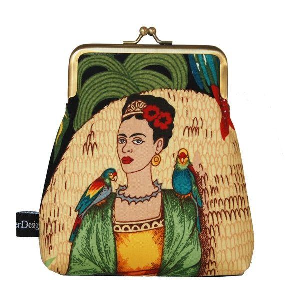 Frida Kahlo - veske til mobil ( eller penger,kort etc)