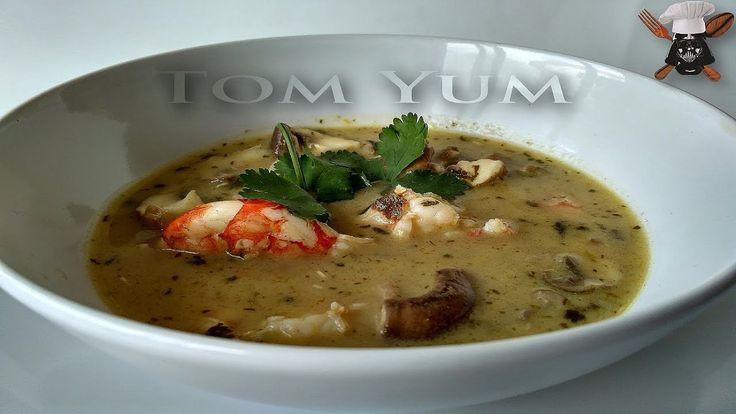 Sopa Tom Yum (Cocina Thai) con Leche de coco