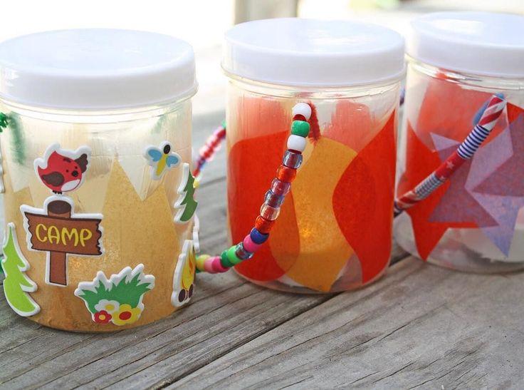 Summer crafternoon! We love the idea of kid friendly lanterns. 🔥@ellaandanniemagazine Made an easy DIY for a fun kids craft! Click the link to get the steps. #summerfun #kidscraft #diy #orientaltrading