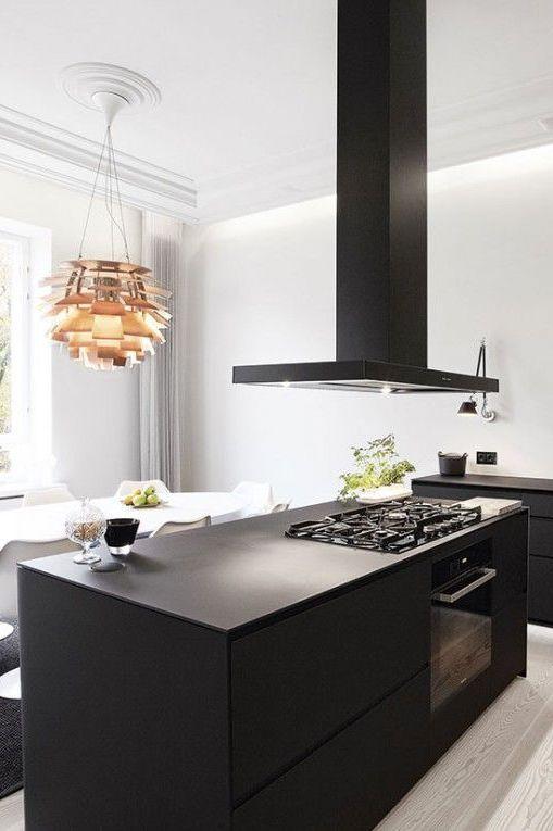 Noir Et Blanc Pour Une Cuisine Design | Cuisine Design | Pinterest