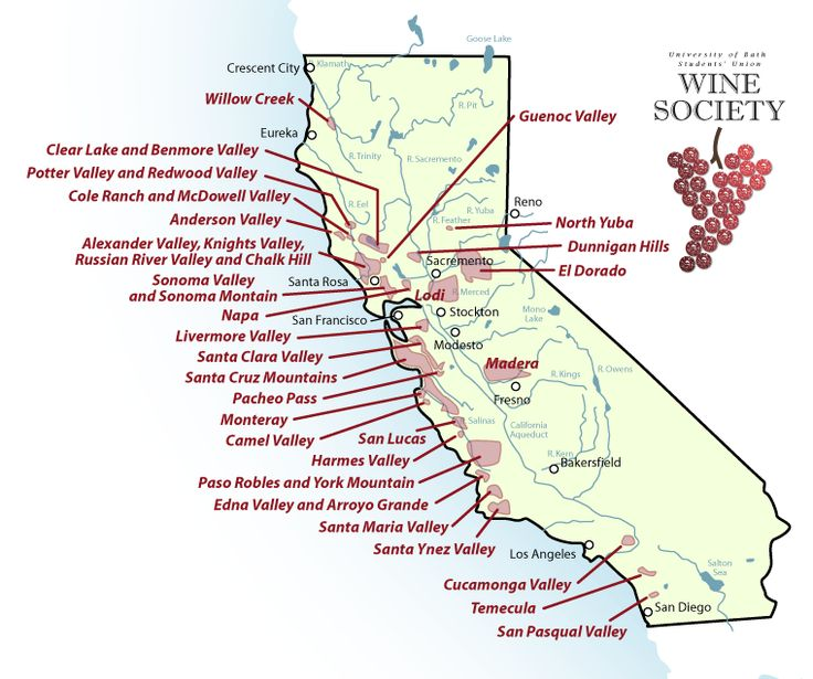 Where is alexander valley or knights valley this map for California wine