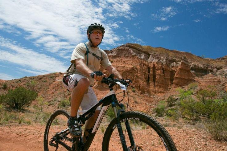The Bush Center W100 mountain bike ride at Palo Duro Canyon State Park in Amarillo, Texas on April 28, 2012.