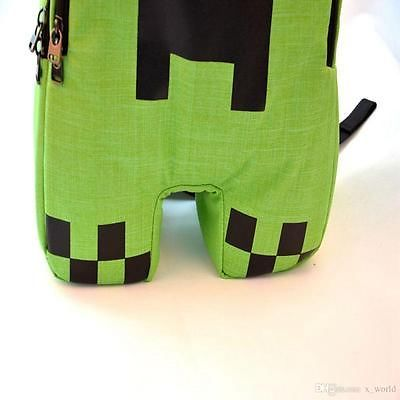 Minecraft Bag Minecraft Creeper Backpack Creeper school bag Free shipping!!
