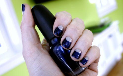 15 Diseños de Uñas en forma de Media Luna - Manicure