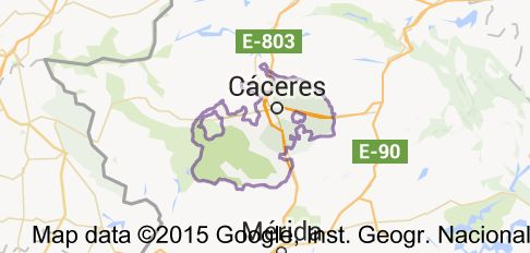 Map of caceres spain