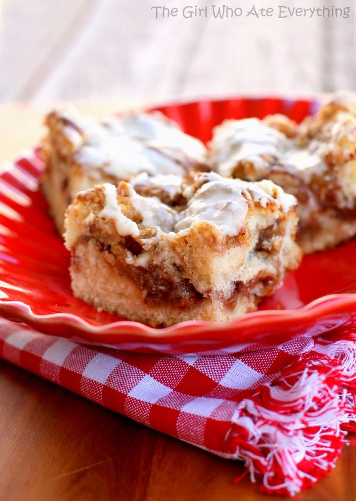 Apple Streusel Coffee Cake...soooooo making this again. Left out the nuts otherwise made it as the recipe stated. Yum!