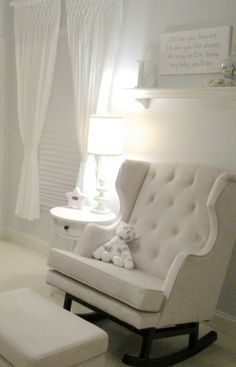Classic all white nursery.