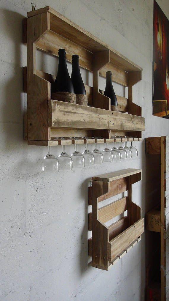 Etagère à bouteilles et verres vin ou autre
