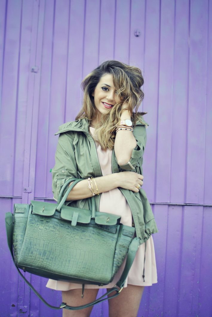 #fashion #fashionista Nicoletta verde rosa Scent of Obsession fashion blogger - daily style, travels and style tips : MILITARY CHIC