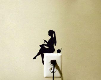 Meisje met ballonnen Velvet muur sticker door Mirshkastudio (6,44 + 3,67 verzendkosten)