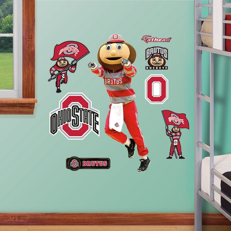 Ohio State Mascot: Brutus Buckeye   Fathead Jr. Part 56