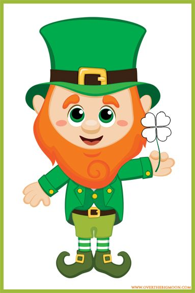 Pin the Shamrock on the Leprechaun - St. Patrick's Day Kids Game!  Free Download of the 20x30 printable poster and clovers!