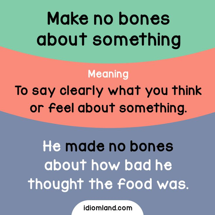 Tell us what you think about our idiom cards. Make no bones about it! #idiom #idioms #english #learnenglish #bones