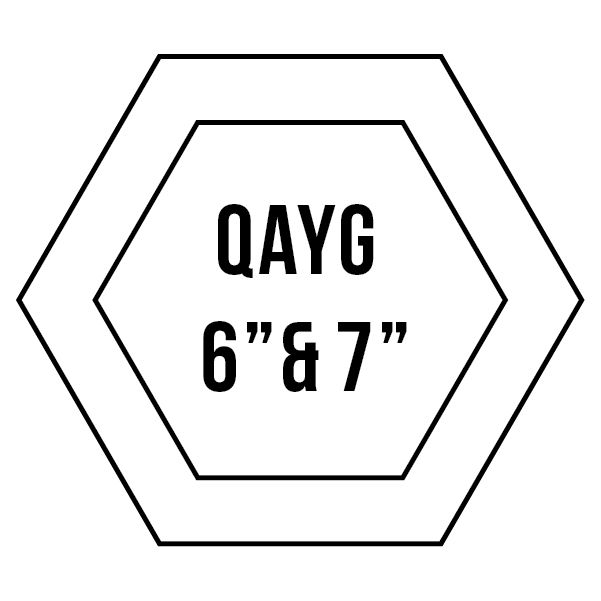 """6"""" & 7"""" Quilt-As-You-Go Hexagons: Patchwork With Busyfingers"""