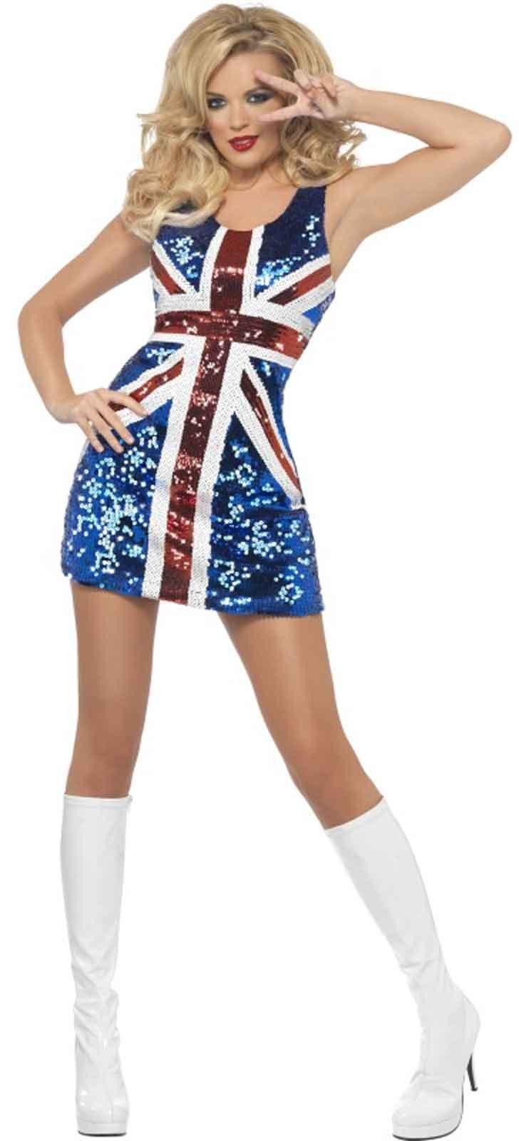 All That Glitters Rule Britannia Union Jack Dress Costume from Buycostumes.com