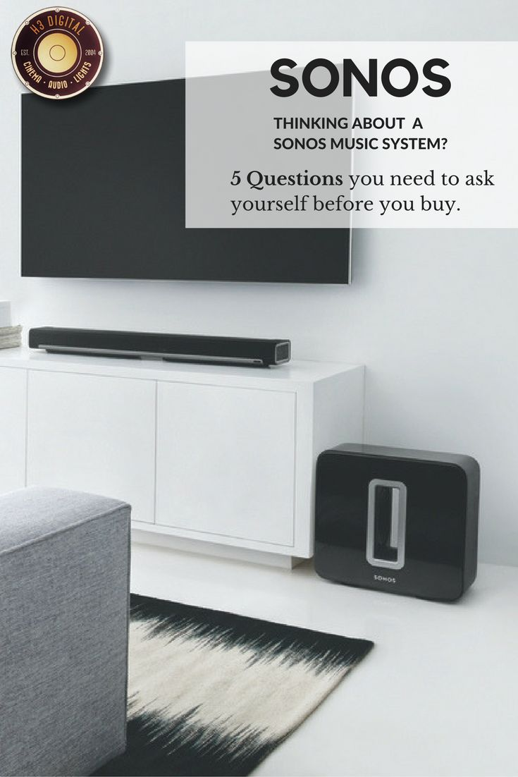 Article about the 5 basic questions you should ask yourself before you buy a Sonos Music System.