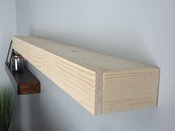 This listing is for a single unfinshed floating shelf. This item will come sande…   – most beautiful shelves