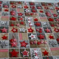 http://www.radicifabbrica.it/prodotto/tovagliato-natalizio-h-cm-280-dis-stelle/    Tessuto natalizio per tovagliato color ecru con bellissima stampa a stelle.  Il tessuto è alto cm 280, composizione:80% cotone, 20% poliestere.  ideale per realizzare tovaglie, copritutto, cuscini e accessori cucina  lavabile in lavatrice a 30°  il prezzo di Euro 15.00 si riferisce al metro lineare.