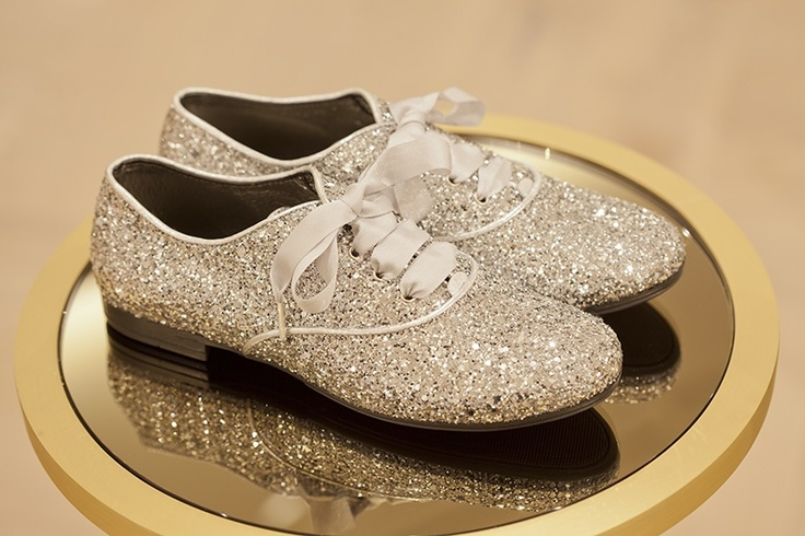 Perfect sparkle Christmas shoes for children at One Small Step in Harrods for winter 2012