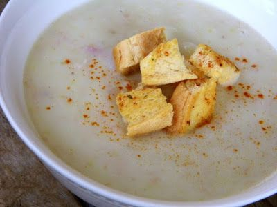 One Mother Hen: Leek, bacon and potato soup