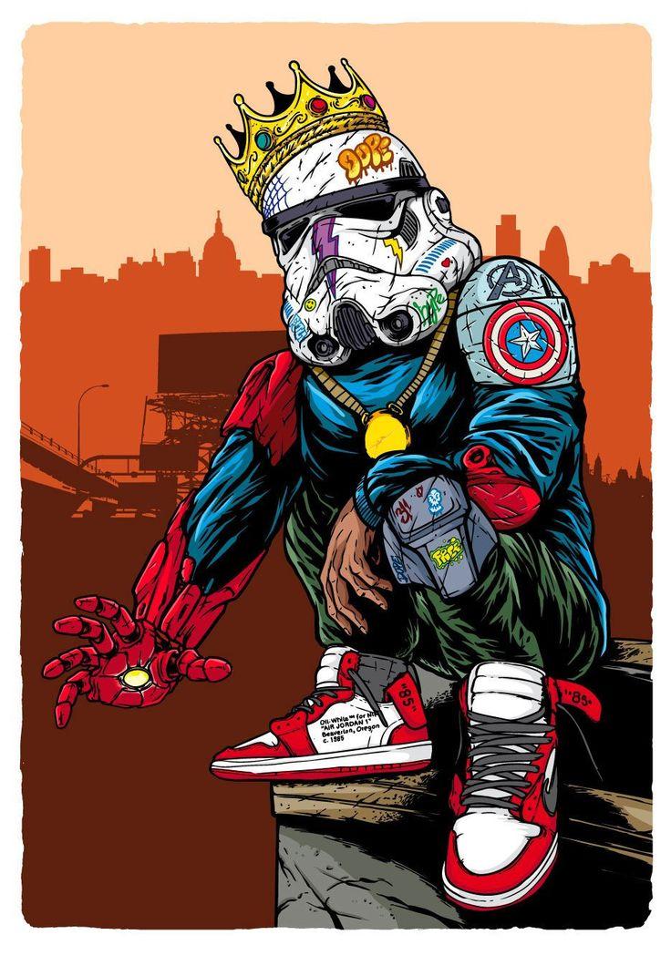 Hypebeast Stormtrooper in 2020 Art, Nike art, Cartoon