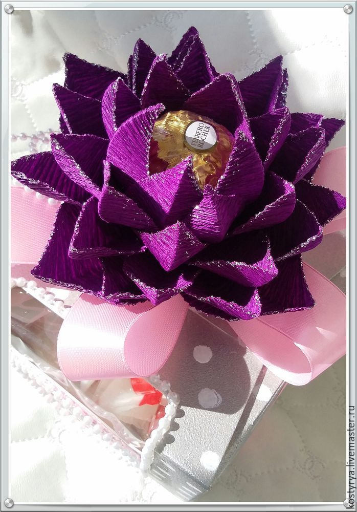 Необычный способ изготовления цветов из гофробумаги, или Гнём гофру поперёк - Ярмарка Мастеров - ручная работа, handmade