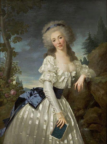 La reine de rétro : XVIII wiek w barwach nieba i morza