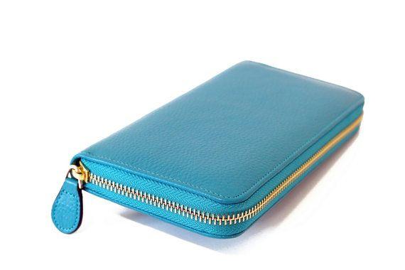 Geniune Leather Zip Wallet for Woman  All Around Zip Wallet