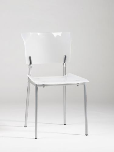 White Acrylic Chair Available At Homegallerystores.com