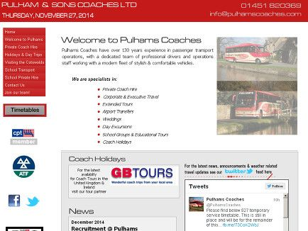 Pulham & Sons (Coaches) was established in 1880, and is one of the longest running coach operators in the United Kingdom. Bus Schedule from Moreton on the Water to Bourton on the Water