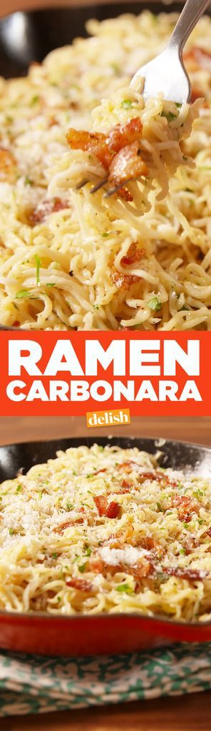 Ramen Carbonara - Delish.com