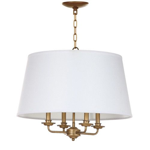 Found it at Joss & Main - Alisha 4-Light Shaded Chandelier. 23h x 22w