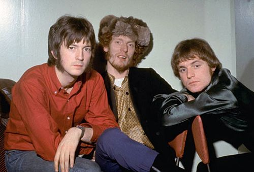 Cream; Eric Clapton, Ginger Baker and Jack Bruce  Love pics like this, makes you wonder what the conversation was about