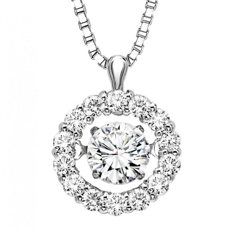 19 best diamonds rhythm of love images on pinterest round 14k rhythm of love 12cttw classic diamond halo necklace aloadofball Image collections