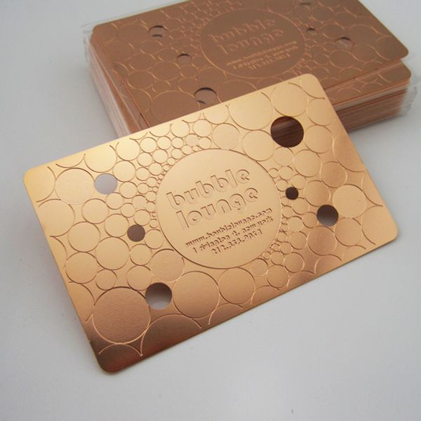 Rose Gold Metal Business Cards #businesscards #engraving #diecutting #metalcards @formink