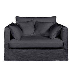 Canapé fixe 2 places NÉO KINKAJOU, toile lin froissé, BULTEX AM.PM - Fauteuil