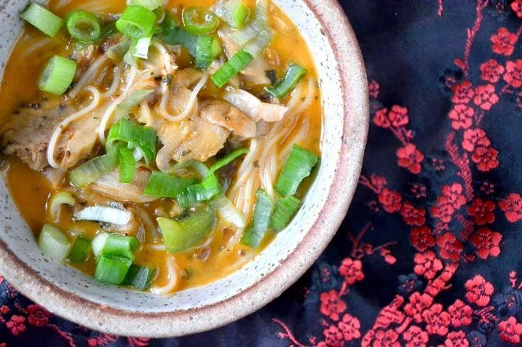 Asijská kokosová polévka s hlívou