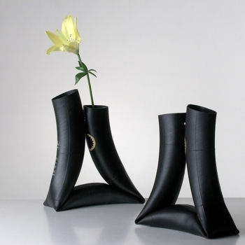 vase made of inner tube