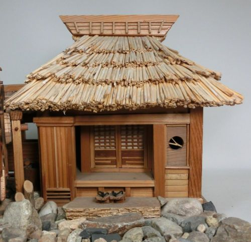 796 best japanese miniatures images on pinterest for Mini wooden house