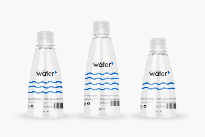 Really Simple Water packaging by Packvisuals » Retail Design Blog
