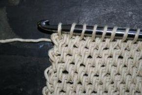 Tunisian full stitch, #Tunisian crochet, stitch, technique, #Tunisch haken, steek, techniek, #haakpatroon